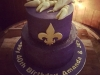 Purple and Gold 40th Birthday