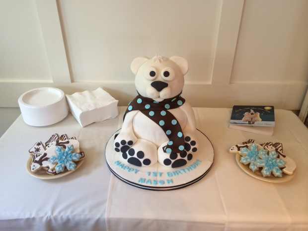 Winter Onederland Polar Bear Cake Rach Makes Cakes