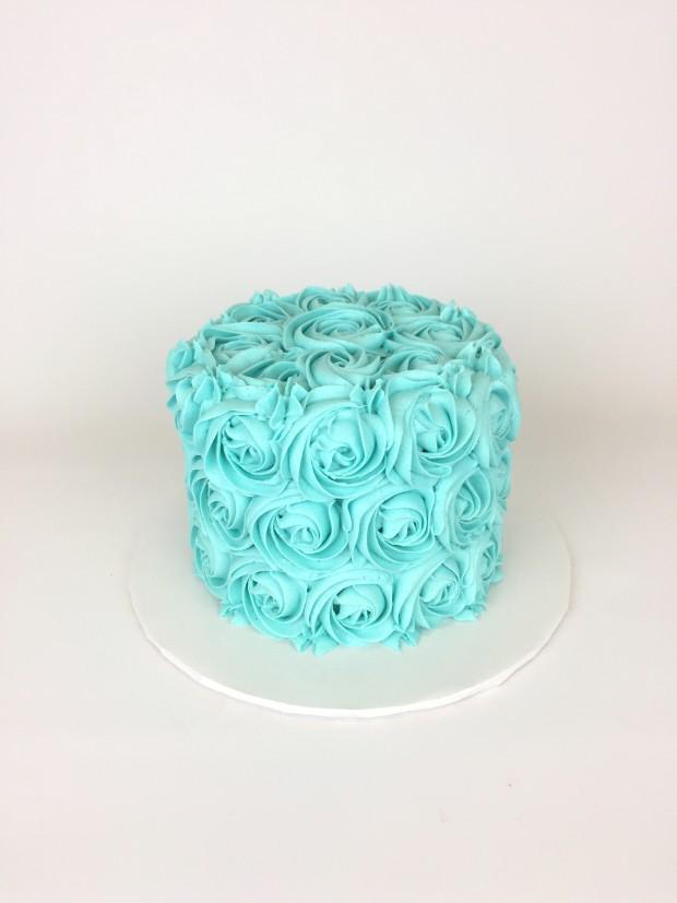 Blue Rosette Cake Rach Makes Cakes